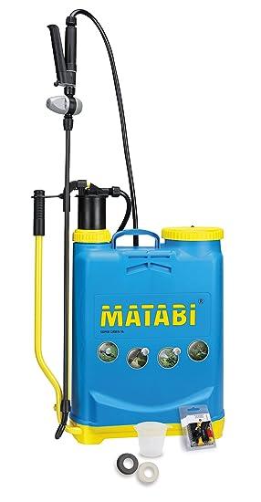 matabi Super Green - Pulverizador, presión retenida, talla 16, color azul: Amazon.es: Jardín
