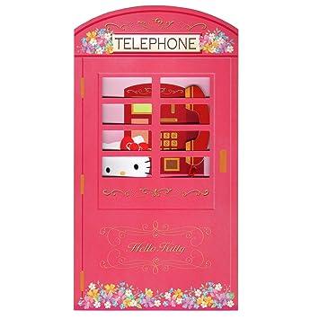 Amazon hello kitty pink telephone booth happy birthday melody hello kitty pink telephone booth happy birthday melody greeting card m4hsunfo