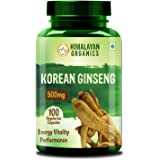 Himalayan Organics Korean Red Ginseng 1000mg/Serve - 100 Veg Caspules