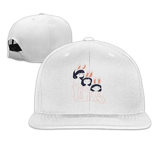 Rabbit Girls Snapback Cap Plain Blank Caps Adjustable Flat Bill Hats ... 31f04556f02