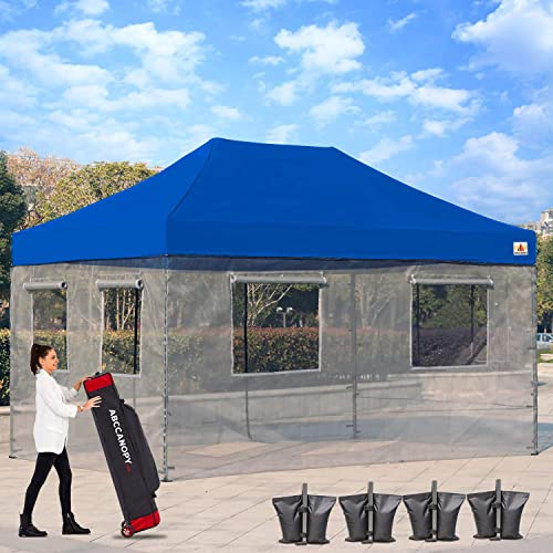 ABCCANOPY Food Vendor Tent 10×15 Food Vendor Booths Food Service Canopy STD Royal Blue