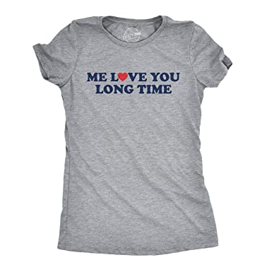 7dfda7d94c Womens Me Love You Long Time Tshirt Funny Heart Relationship Family Tee  (Grey) XXL: Amazon.co.uk: Clothing