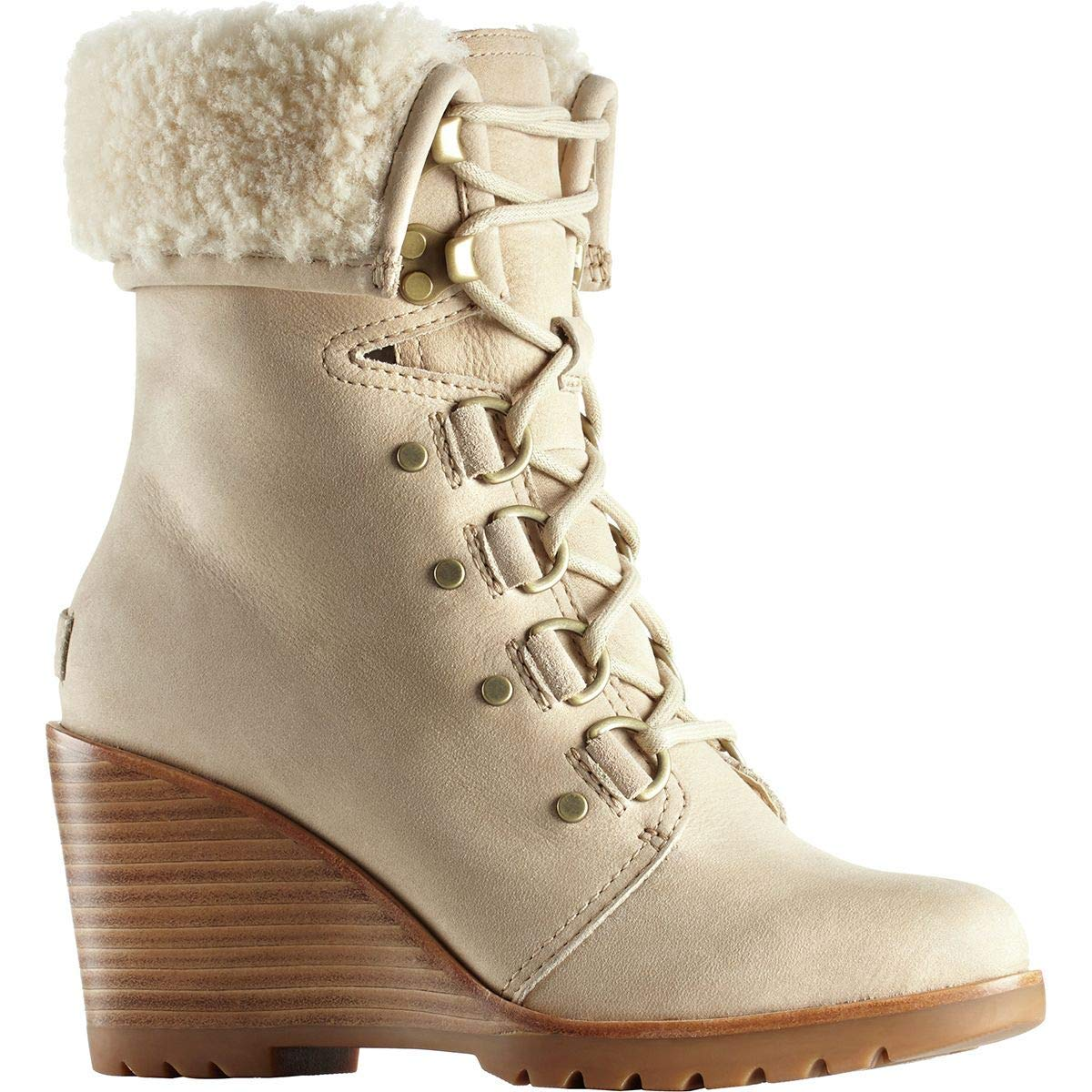 Sorel Womens After Hours Lace Shearling High-Top Nubuck Boot