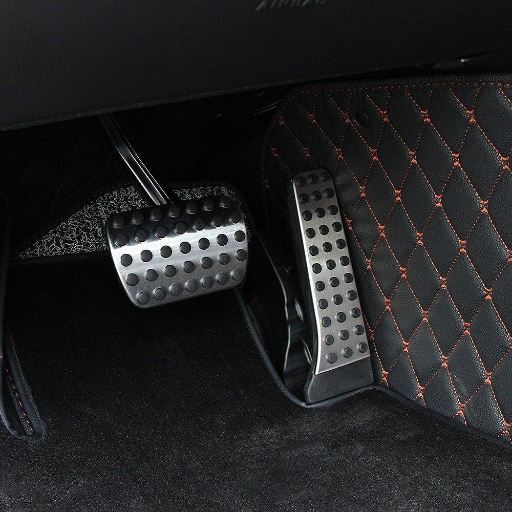 etopmia BEZ No Drill Fuel Brake Foot Pedals For Mercedes Benz C//E//S//GLK//SLK//CLS//Sl Class Silver 1 Pack