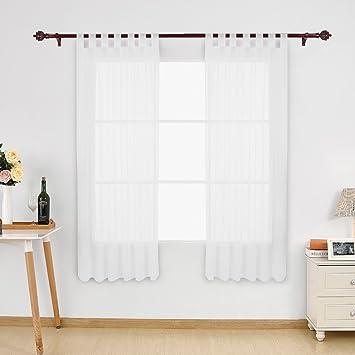 Amazon.de: Deconovo Vorhang Voile Transparent Vorhänge Wohnzimmer ...