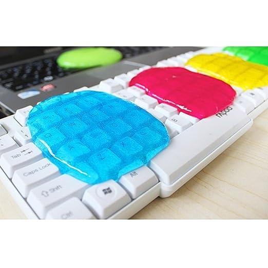OurLeeme multifunción reutilizable suave pegajoso pegamento Clean Gel Goma de limpieza del teclado limpiador del polvo azul: Amazon.es: Oficina y papelería