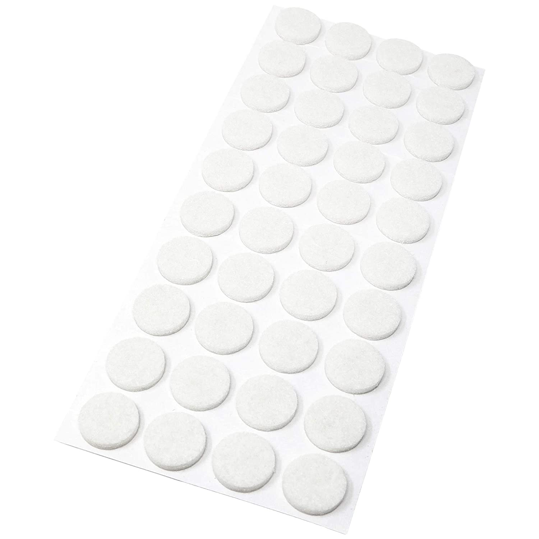 rund Ø 60 mm 3.5 mm starke selbstklebend Adsamm®80 x Filzgleiter Weiß