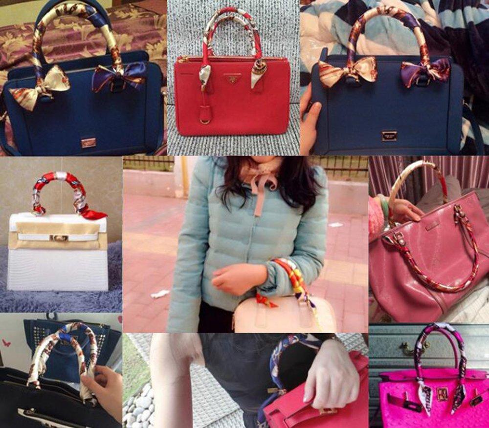 Uainhrt 4pcs/5pcs/6pcs/7pcs/8pcs Bag Handbag Handle Ribbon Scarf Hair Head Band Neck Scarf Fashion Gifts