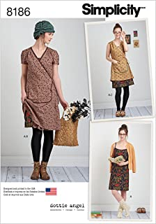 product image for Simplicity 8186 Frock and Slip Dress Sewing Pattern for Women by Dottie Angel in Sizes P5 (12-20)