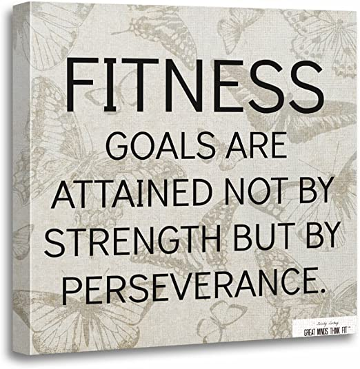 exercise fitness gym motivation Quote High Quality Canvas home wall art /& Decor