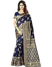 ziya Women's Banarasi Silk Saree Indian Wedding Ethnic Sari & Unstitch Blouse Piece PARI 21