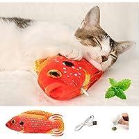 Juguete De Gato Pez Eléctrico Juguetes Interactivos Para Gatos, 28cm Juguete De Pez En Movimiento Juguetes Para Gatos…