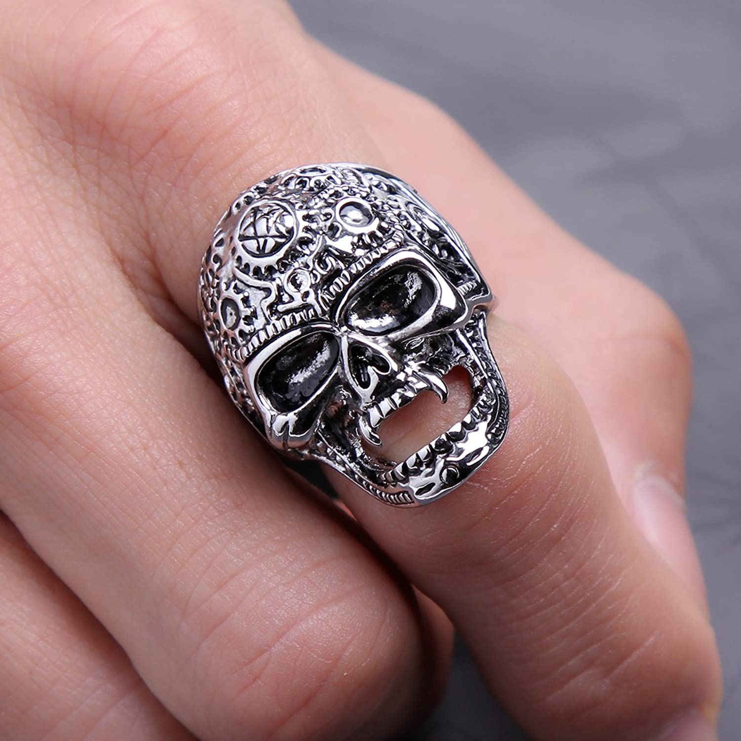 EVBEA Mens Skull Band EVBEA Big Cool Biker Skull Face Motorbycle ...