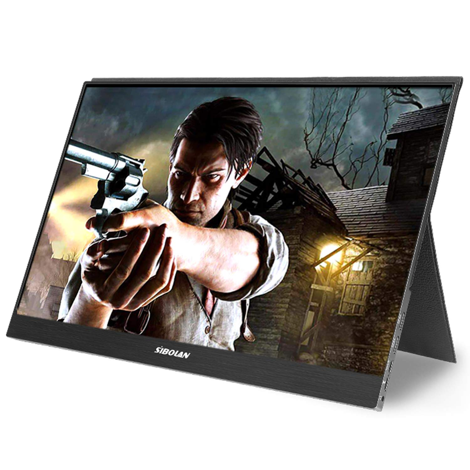 144HZ Portable Monitor 15.6 inch 1080P USB Type-C 9ms Response Time IPS HDR Gaming Monitor 4mm Ultra Slim for Office and Games with Smart Case