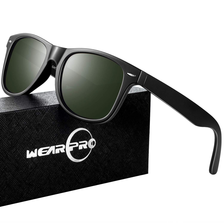 Sunglasses for Men Vintage Polarized Mens Sun Glasses WP1026 (Green) by wearpro