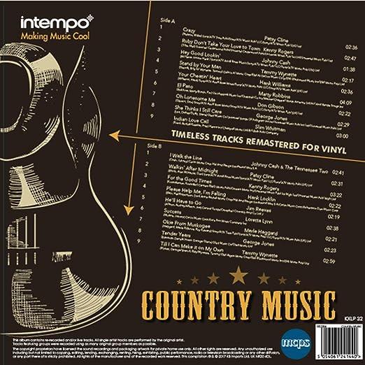 INTEMPO EE2284 Country Music LP-Disco de Vinilo, 12 Pulgadas, Feat ...