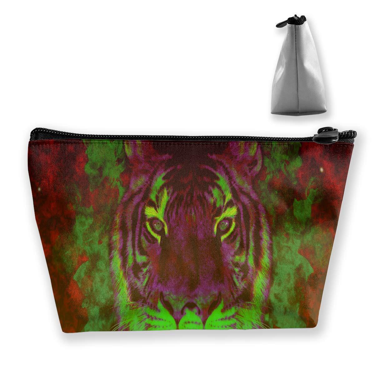 Trippy Abstract Tiger Travel Toiletry Bag Estuches de ...