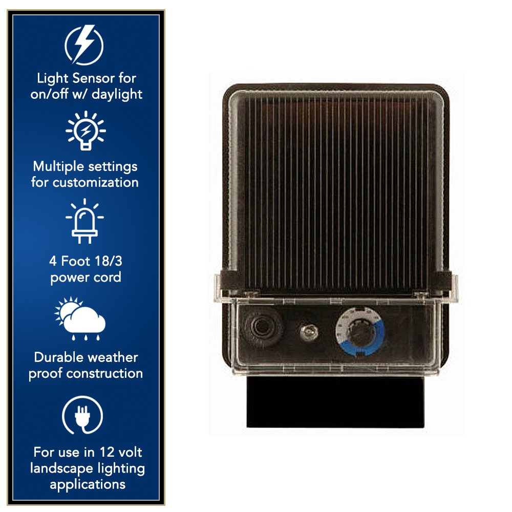 Moonrays Electric Power Pack For Outdoor Low Voltage Lighting With Light Sensor and Rain-Tight Case (120-Watt) by Moonrays (Image #2)