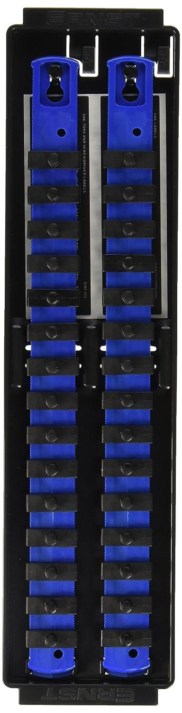 High-Visibility 19-Inch 1//2-Inch-Drive Socket Organizer Ernst Manufacturing 8463HV Socket Boss 2-Rail