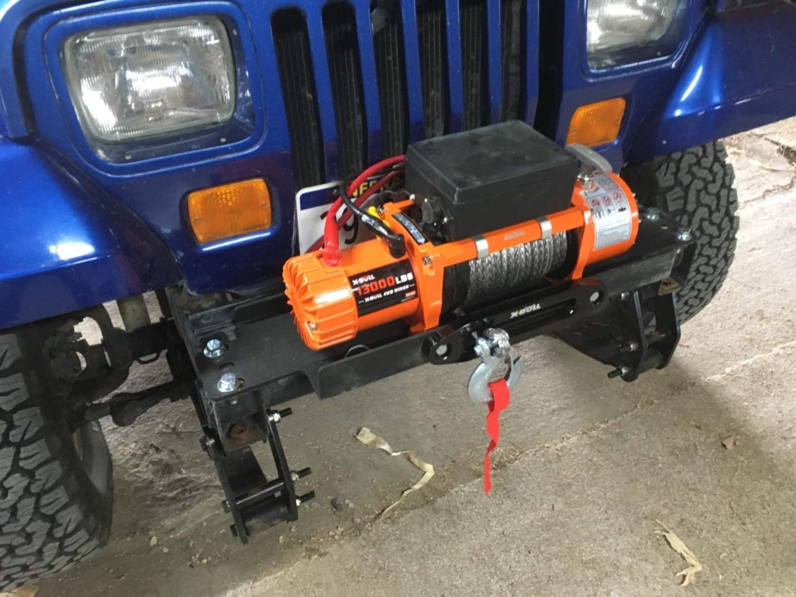 X-BULL 12V Waterproof Synthetic Rope Winch-13000 lb. Load Capacity IP67 by X-BULL (Image #6)