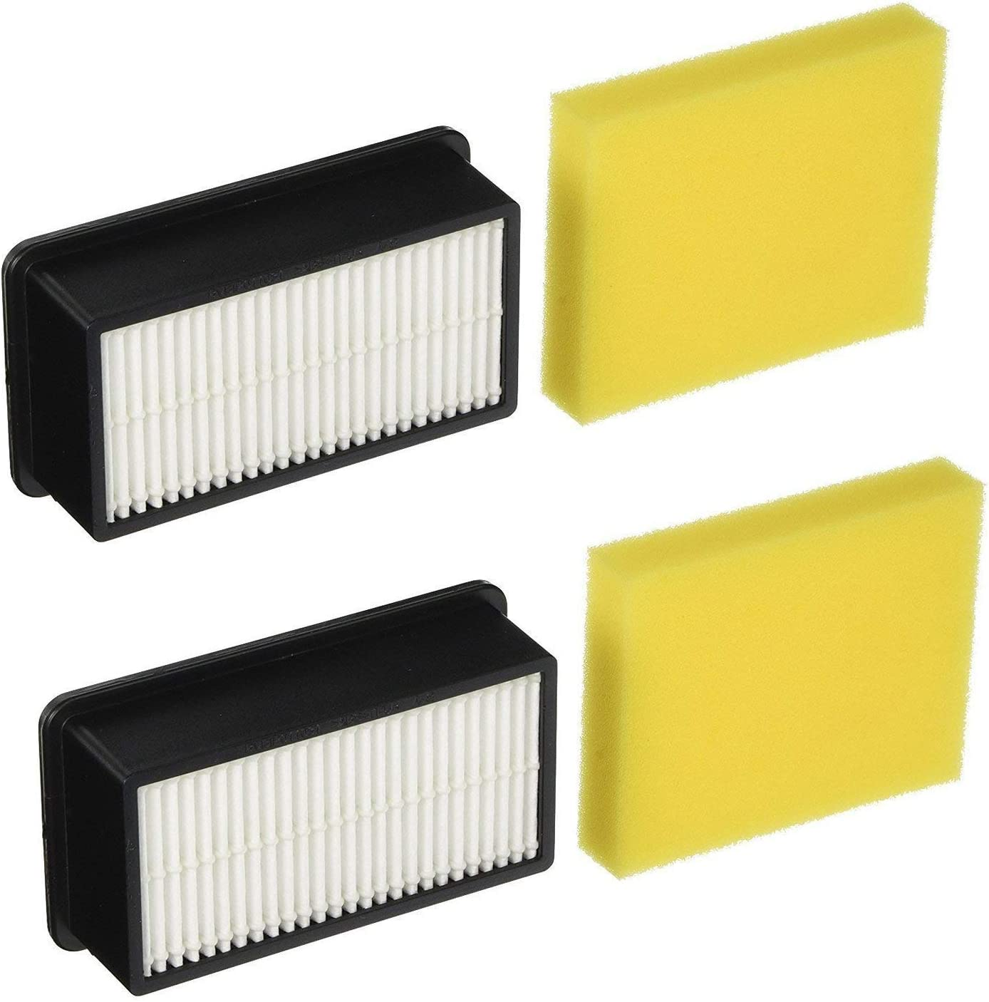 Colorfullife 2 + 2 Pack Style 1008 Filter for Bissell CleanView Upright Vacuums 9595A, 1819, 1822, 1825, 1831, 1330, 1332. 2 Pre-Motor Foam Filter and 2 Post-Motor Filter