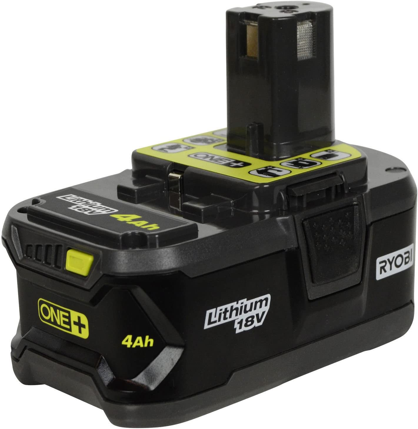 Ryobi P197 Battery ONE + (PLUS) Compatible Replaces P108 Rechargeable Lithium Ion 18 v Volt 4.0 Ah / 72 Wh UL Listed Faster Recharge Single Battery with Fuel Gage