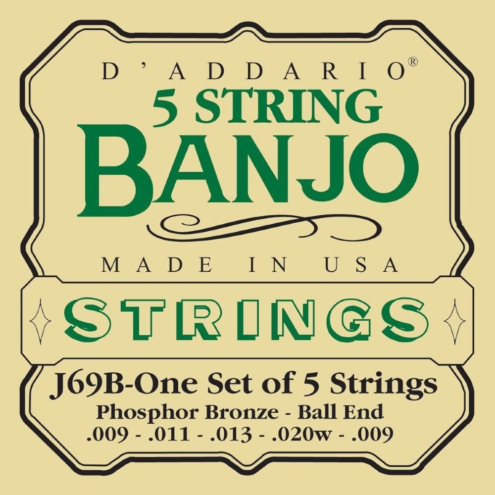 Stagg 16894 10-12-16-23-10 Medium Nickel 5 String Set for Banjo