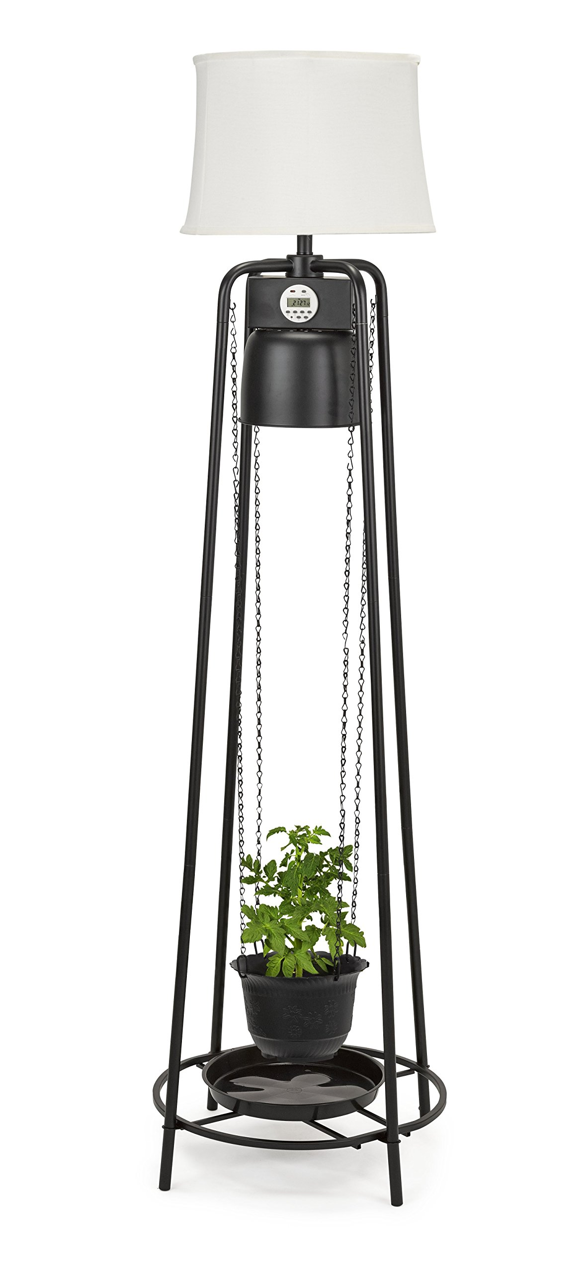 Catalina Lighting Glo Gro 45-Watt LED Grow Light, Étagère Floor Lamp with Adjustable Plant Housing and Integrated Timer, Black, 20745-000 by Catalina Lighting (Image #7)