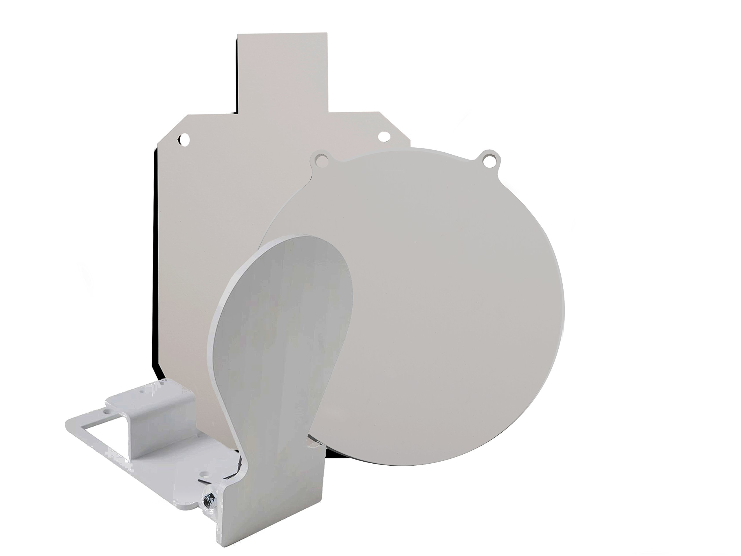 RMP Gong Swing Target Kit - 1 10'' White Gong, 1 15-1/8 X 9-1/4 White Silhouette, 1 Spring Load Target by RMP (Image #1)
