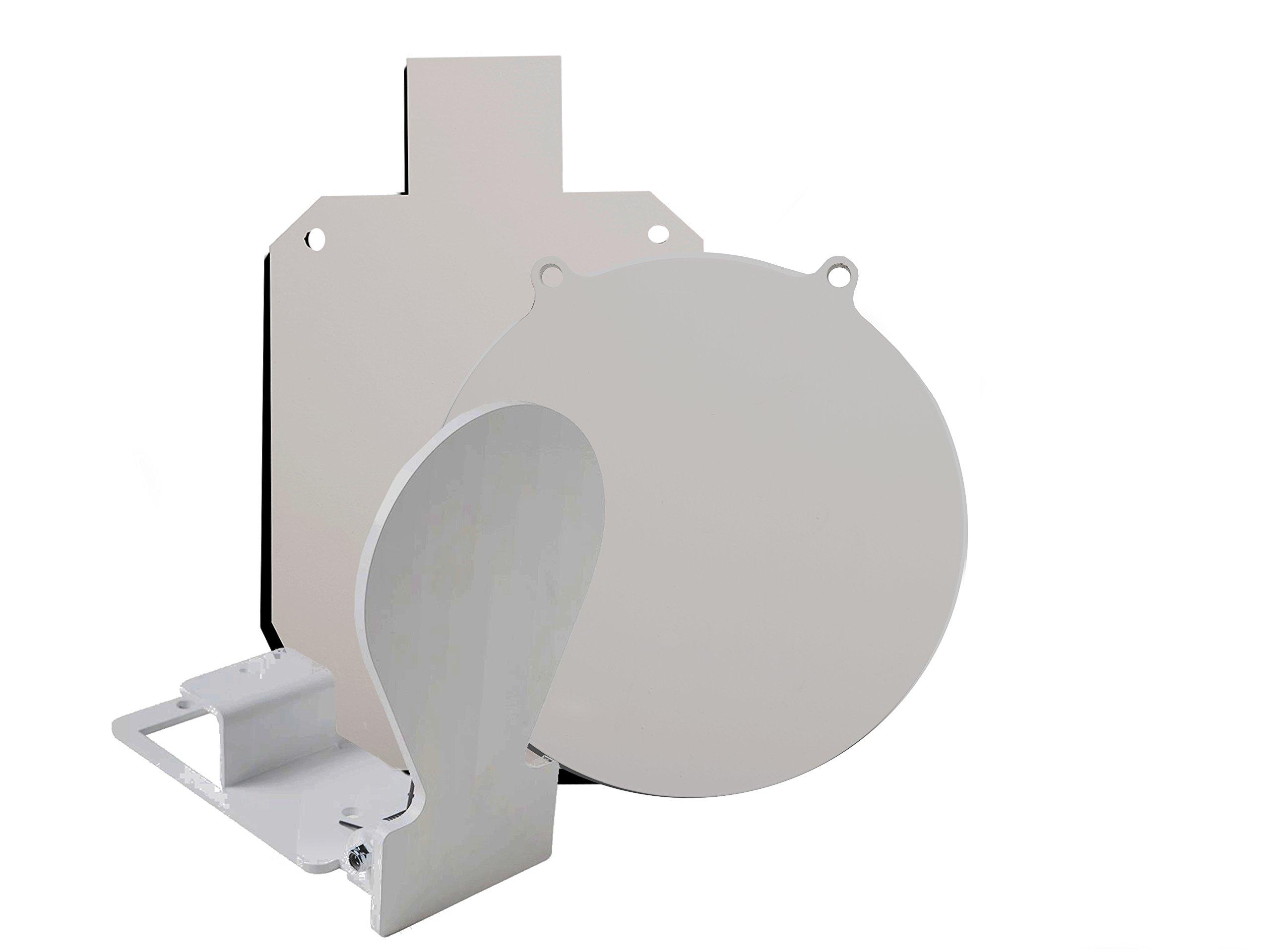 RMP Gong Swing Target Kit - 1 10'' White Gong, 1 15-1/8 X 9-1/4 White Silhouette, 1 Spring Load Target