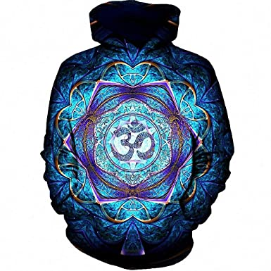 Amazon.com: MIGAGA Flower Mandala Hoodies Men Hoodies with Hat Sudadera Sportswear Tracksuit: Clothing