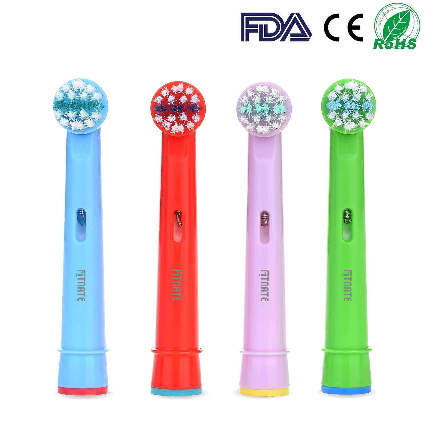Fitnate 4PCS Kids Toothbrush Replacement Brush Heads for Braun Oral B Compatible with Oral B Pro-Health Stages Electric Toothbrush for Children (4PCS) AGPTEK