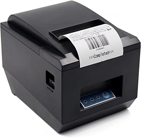 POS Thermal Receipt Printer,Symcode Ethernet/LAN, Serial Port - Auto Cutter - Cash Drawer Port - Paper Width 3 1/8