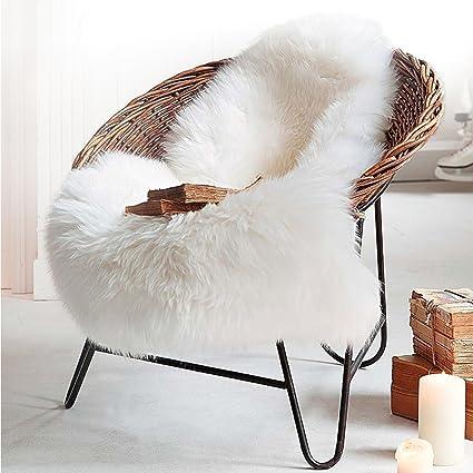 LOCHAS Deluxe Super Soft Fluffy Shaggy Home Decor Faux Sheepskin Silky Rug  For Bedroom Floor Sofa
