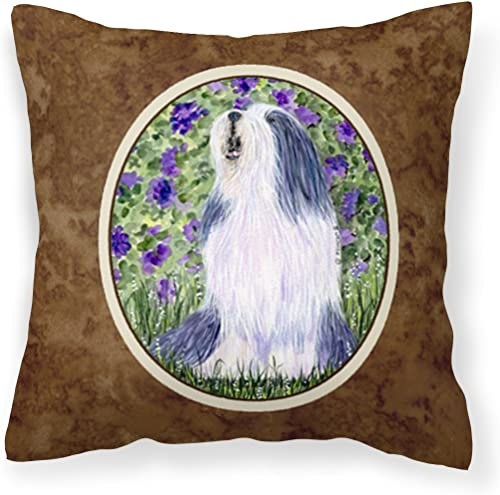Caroline's Treasures SS8602PW1414 Bearded Collie Decorative Canvas Fabric Pillow