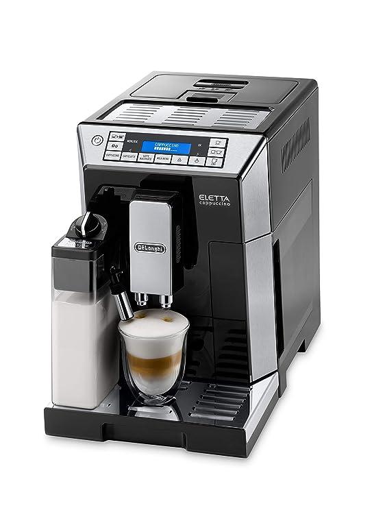 DeLonghi ECAM 45.766.B - Cafetera (Independiente, Máquina espresso, 1,9 L, Granos de café, De café molido, Molinillo integrado, 1450 W)