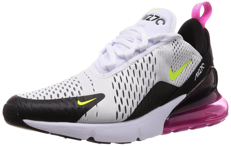 MultiCouleure (blanc Volt noir Laser Fuchsia 109) Nike Air Max 270, Chaussures d'Athlétisme Homme 49.5 EU