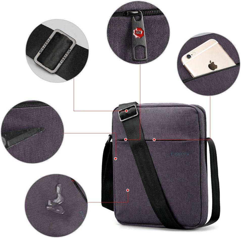 BAIGIO Bolso Bandolera Bolso Antirrobo para iPad Viaje y Trabaje con la Bandeja de la Tableta de hasta 9,7 Bolsa Messenger para Mujer//Hombre