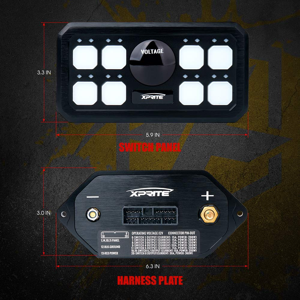 Xprite Universal 8 Gang Switch Panel Box Control System for Car ...