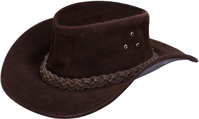 Australian Western Style Cowboy Outback Real Suede Aussie Bush Hat