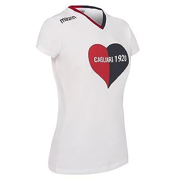 Macron Camiseta Linea Fan en algodón piqué Mujer Cagliari Calcio 2017/18