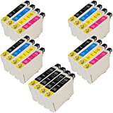 4 sets + 4 extra Black of Compatible Epson ink cartridges T0715 for Epson Stylus B40w BX300f BX310fn BX410 BX510 BX600fw BX610fw D78 D92 D120 DX400 DX4000 DX4050 DX4400 DX 4400 DX4450 DX5000 DX5050 DX6000 DX6050 DX7000f DX7400 DX7450 DX8400 DX8450 DX9400f S20 S21 SX100 SX105 SX110 SX115 SX200 SX205 SX209 SX210 SX212 SX215 SX218 SX 218 SX400 SX405 SX405wfi SX410 SX415 SX510w SX515w SX600fw SX610fw Printers - Compatible Epson Cheetah Inks T0715 T0891 T0892 T0893 T0894 T0895 T0896 TO711 TO712 TO713 TO714 TO715 E- 711 E- 712 E- 713 E- 714 E- 715 (Contains 8x T0711 Black, 4x T0712 Cyan, 4x T0713 Magenta, 4x T0714 Yellow) ***by Printer Ink Cartridges***