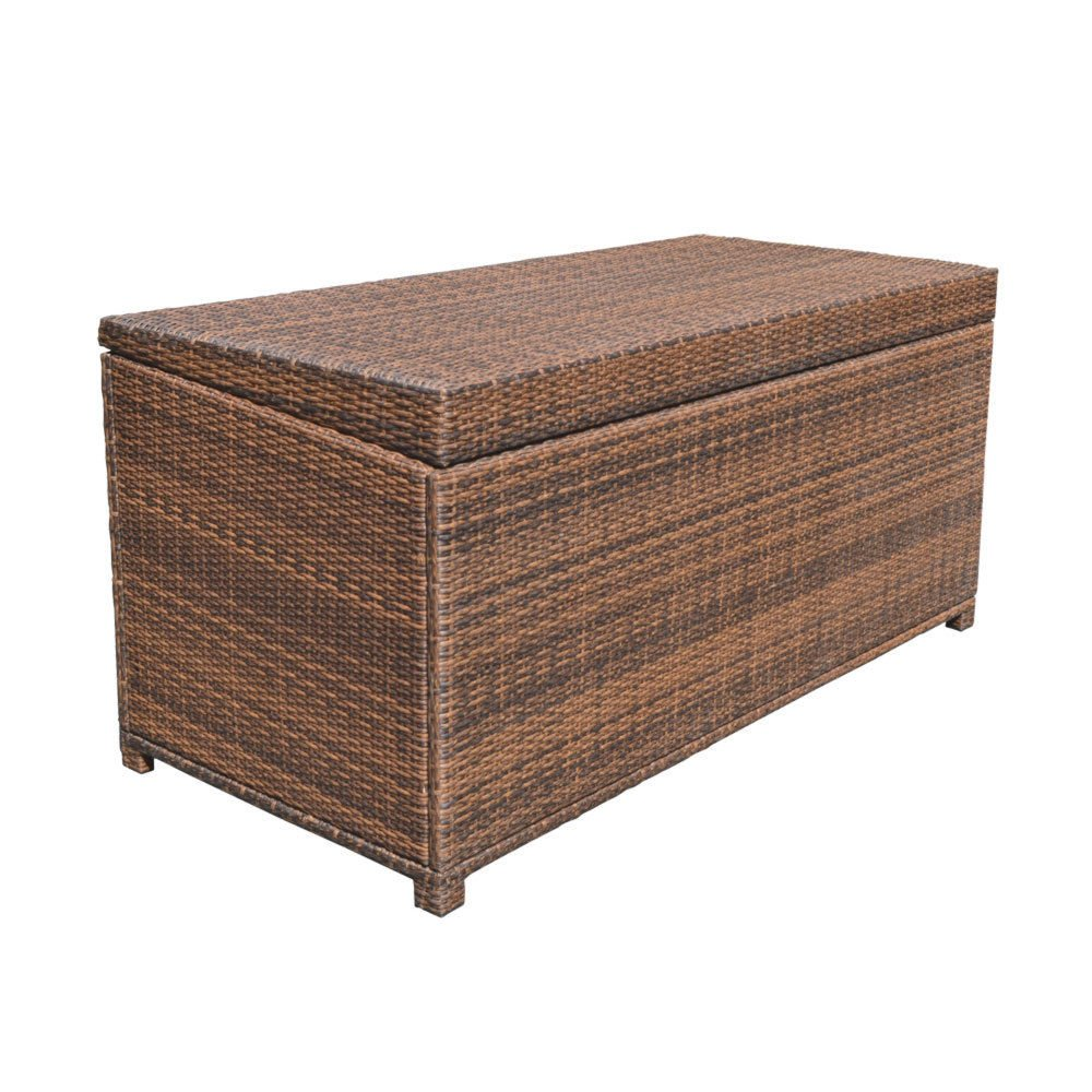Style 2 ESPRESSO 64'' x 30'' x 30'' Large Wicker Storage Box Chest Deck Poolside Storing Patio Case by Generic (Image #2)