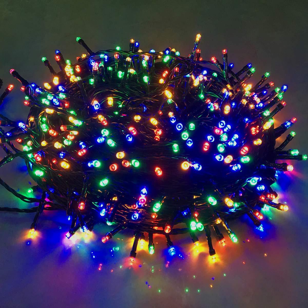 HENGMEI LED Lichterkette Lichterkette Lichterkette Lichterwand Lichtervorhang 8 Leuchtmodi IP44 Wasserfest Innen Außen für zimmer Dekor, Weihnachten, Halloween (Bunt, 100m) B07JZ3Y2PP Lichterketten 52d890