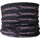 Foulard à porter sur la tête de multiples façons Motif tribal Noir/violet