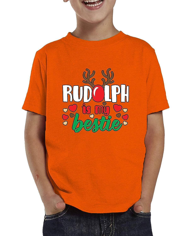 SpiritForged Apparel Rudolph is My Bestie Toddler T-Shirt