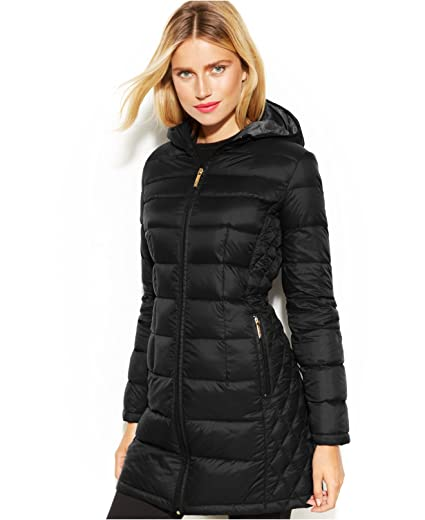 3aeed9650 Amazon.com: MICHAEL Michael Kors Quilted Down Packable Puffer Coat ...
