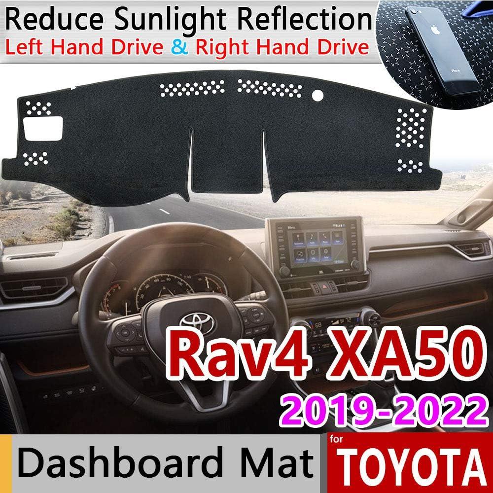 QQKLP FIT F/ür T-Oyota Rav4 XA50 2019 2020 RAV 4 XA 50 Anti-Rutsch-Matte Armaturenbrett-Abdeckung Pad Sonnenschutz Dashmat Teppich Anti-UV-Auto-Zubeh/ör Teppich