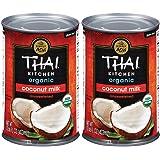 Thai Kitchen Organic Gluten Free Unsweetened Coconut Milk, 13.66 oz (Pack of 2)