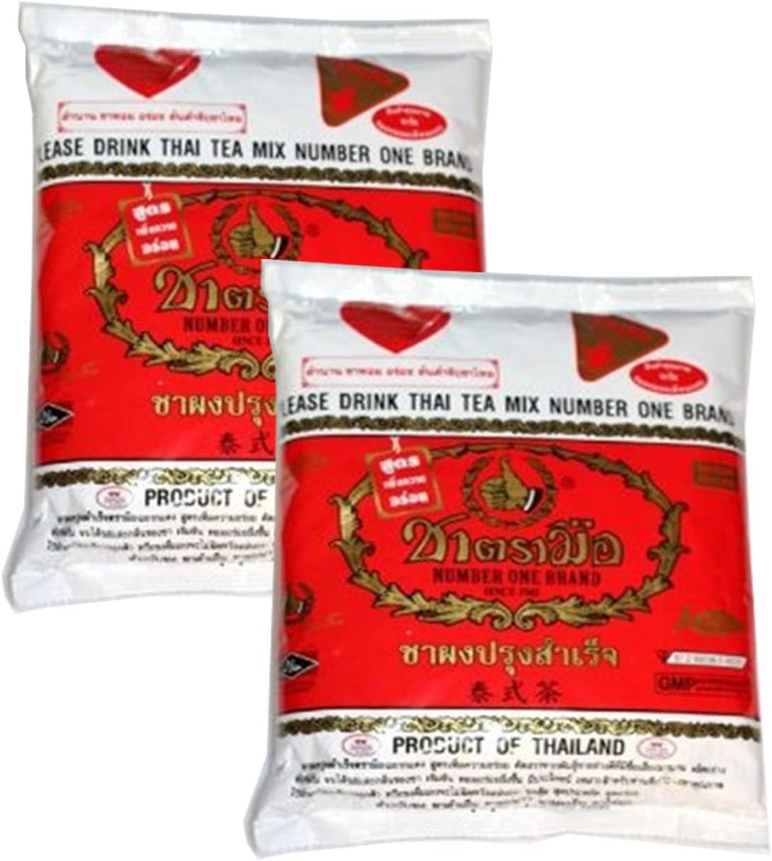 2 X The Original Thai Iced Tea Mix ~ Number One Brand Imported From Thailand! 400g Bag Great for Restaurants That Want to Serve Authentic and High Quality Thai Iced Teas 800 gm (28.20 oz)